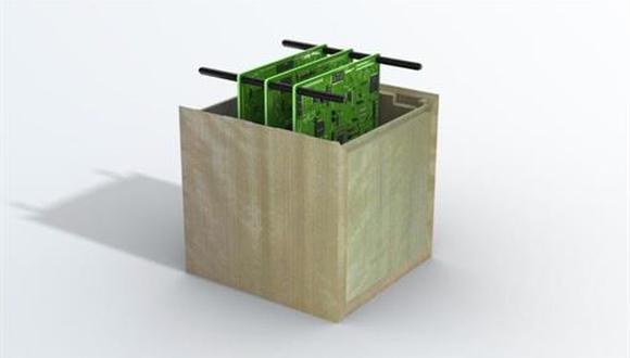Concepto de satélite de madera. (SUMITOMO FORESTRY)