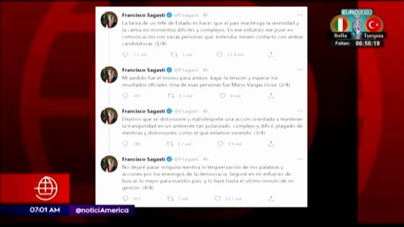 Francisco Sagasti confirms his connection with Mario Vargas Losa