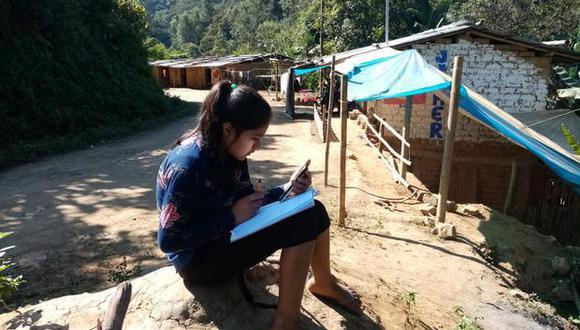 La mayoría de escolares de Canchaque no cuenta con servicio a Internet.