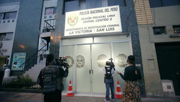 El comandante PNP, Jaime Avelino Palacios Alfaro, jefe del Departamento de Investigación Criminal (Depincri) de La Victoria-San Luis, fue detenido preliminarmente por investigación de cobro de cupos. (Foto: Cesar Grados)