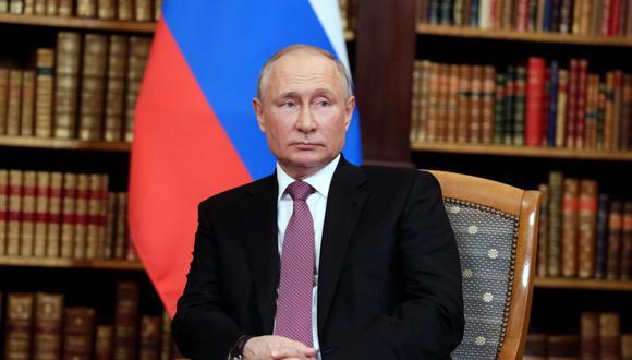 El presidente ruso Vladimir Putin asiste a su reunión con su homólogo estadounidense Joe Biden en la Villa La Grange, en Ginebra, Suiza. (EFE / EPA / MIKHAIL METZEL / SPUTNIK / KREMLIN).