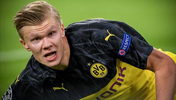 Erling Haaland, delantero del Borussia Dortmund. (Foto: AFP)