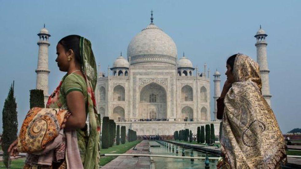 La riqueza fácilmente extraíble en las paredes del Taj Mahal pueden ayudar a defender la estructura de los saqueadores. Foto: Getty images, vía BBC Mundo