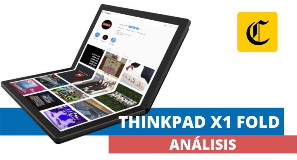 El Comercio pudo probar durante varios días la primera laptop del mundo con pantalla plegable: la ThinkPad X1 Fold de Lenovo. (El Comercio)