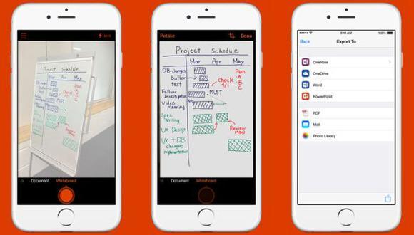 Microsoft lanza una app que convierte el teléfono en un escáner