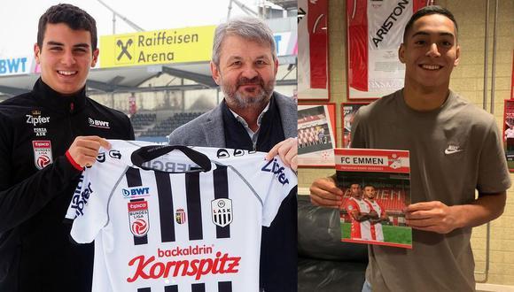 Matías Succar al Lask de Austria y Didier La Torre al Emmen. Estas han sido las dos ventas de futbolistas peruanos en este 2021. (Foto: Instagram Matías Succar / Agref)