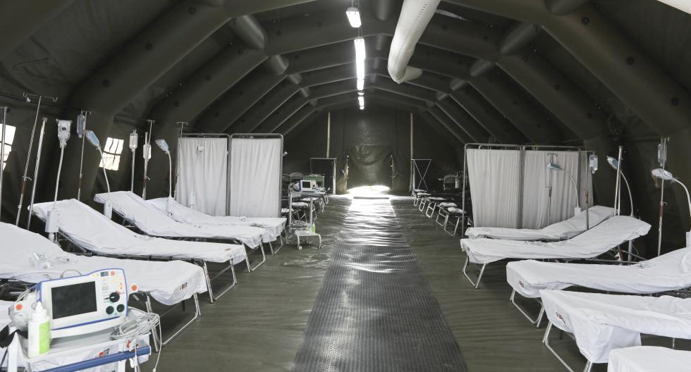 En estos módulos se puede ver un espacio para atención de pacientes. Hay espacio para atender hasta 40 personas. (Foto: Minsa)