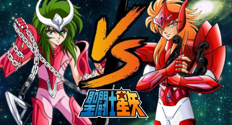 Shun vs Mime en la saga de Asgard de Saint Seiya es una de las peleas más recordadas por los fanáticos del anime.  (Foto: Composición)