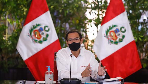El presidente Martín Vizcarra participa en una conferencia de prensa desde Palacio de Gobierno, el pasado miércoles 28 de octubre. (Foto: Presidencia Perú).