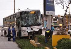 SMP: choque de dos buses del Metropolitano deja 15 personas heridas | VIDEO