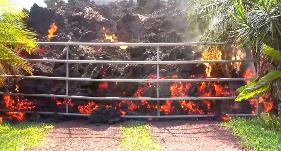 YouTube | Hombre encuentra lava en su patio trasero al regresar a casa | VIDEO (Foto: Captura)
