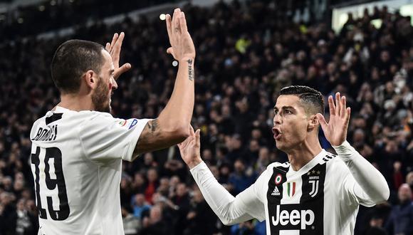 Juventus vs. Spal: Cristiano Ronaldo anotó el 1-0 con esta notable definición de zurda. (Foto: AFP/Reuters)