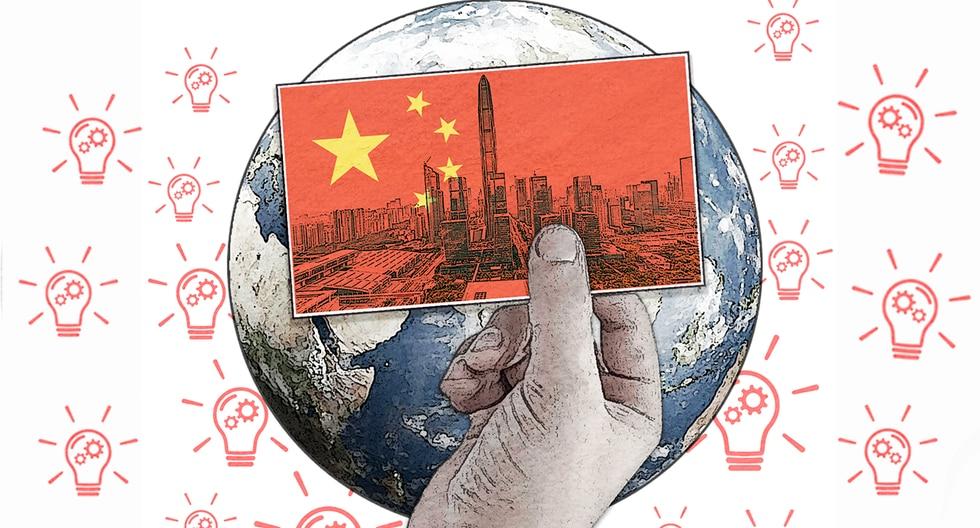 """""""El ascenso acelerado y masivo de las corporaciones chinas produce una fricción global que es inevitable e inseparable de la geopolítica"""". (Ilustración: Rolando Pinillos)"""