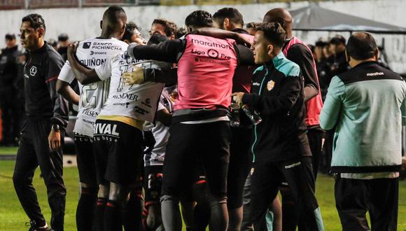 Barcelona venció 4-3 a Aucas en un partidazo por la fecha 11° de la Liga Pro de Ecuador. (Foto: Twitter Barcelona de Guayaquil)