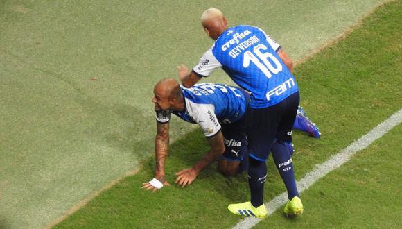 Luego de más de tres disparos de gol, Palmeiras venció la resistencia del arquero de Melgar con un violento testarazo de Felipe Melo. (Foto: Globoesporte)