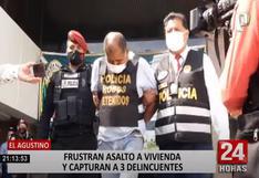 El Agustino: tres delincuentes fueron capturados en pleno robo a una vivienda