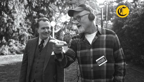 """David Fincher dirigiendo a Gary Oldman en """"Mank"""". El Comercio conversó con el cineasta sobre esta película nominada al Oscar. (Foto: Netflix)"""