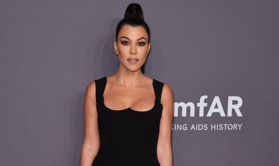 Kourtney Kardashian suffers from alopecia. (Photo: AFP)