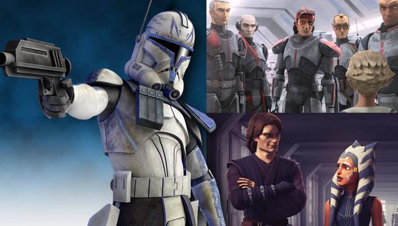"""""""Star Wars: The Bad Batch"""" se estrena este 4 de mayo, con nuevos episodios cada semana. La serie debe su existencia a """"The Clone Wars"""", serie animada que nació de la trilogía de precuelas. (Fotos: Lucasfilm/Disney)"""
