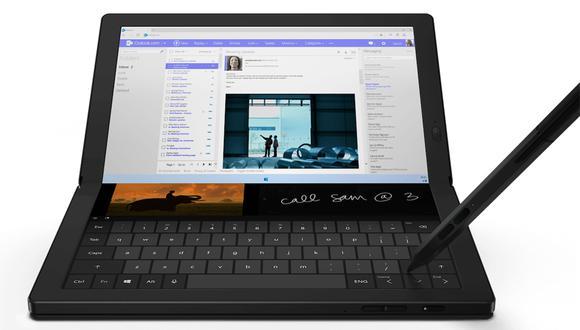 Así es la primera laptop plegable que Lenovo presentó en el CES 2020, la ThinkPad X1 Fold. (Foto: Lenovo)