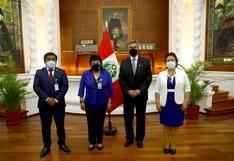 Francisco Sagasti se reunió con dirigentes y congresistas de Somos Perú