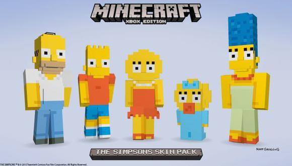Los Simpsons se mudan a Minecraft