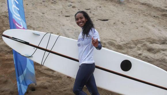 Maria Fernanda Reyes consiguió la medalla de plata en longboard en Lima 2019. (Foto: Jesús Saucedo - GEC)