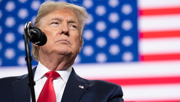 El presidente de Estados Unidos, Donald Trump, de 74 años. (AFP / SAUL LOEB)