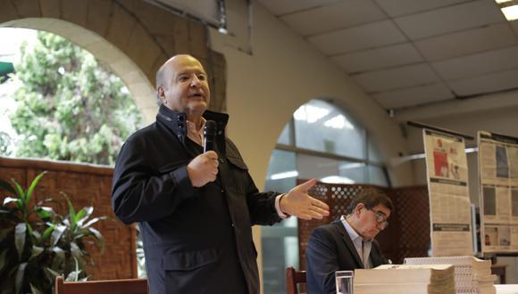 """Hernando de Soto dijo que una Asamblea Constituyente es un """"caballo de Troya"""". (Foto: Anthony Niño de Guzmán / @photo.gec)"""