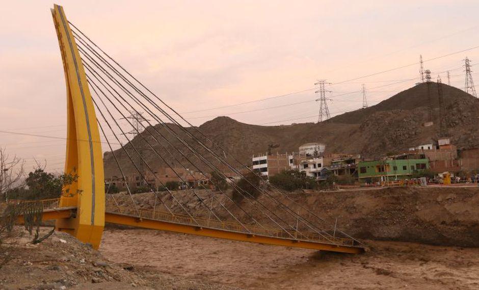 Puente tenía una expectativa de 20 años de uso, pero cayó a apenas 6 años y medio de construido. (El Comercio)