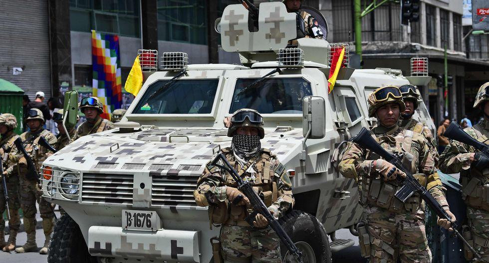 Jeanine Añez ha sacado a los militares a patrullar las calles de Bolivia. (AFP / RONALDO SCHEMIDT).
