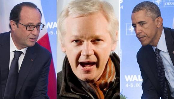 """WikiLeaks: """"Francia tiene derecho a saber que lo espiaron"""""""