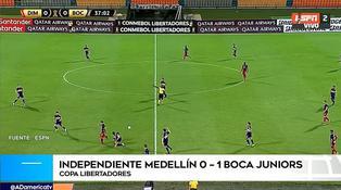 Boca Juniors venció 1-0 a Independiente Medellín por la Copa Libertadores