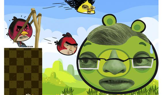 Angry Birds, por Alfredo Bullard