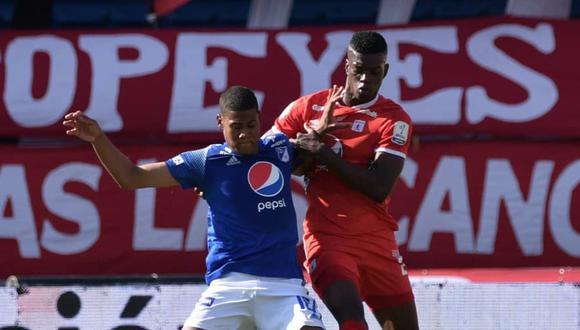 América de Cali venció 2-1 a Millonarios por la Liga BetPlay de Colombia