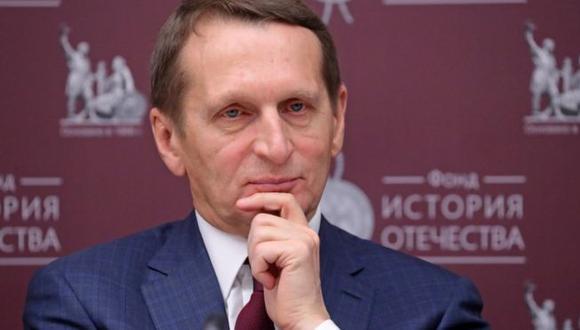 Serguéi Naryshkin es el jefe del servicio de espionaje de Rusia. (Getty Images).