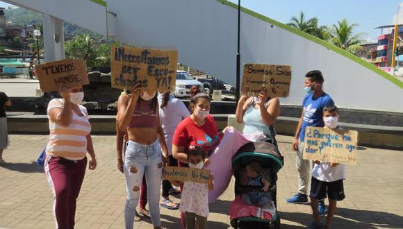 Extranjeros poden ayuda a las autoridades para subsistir durante estado de emergencia (Foto: Jorge Quispe Romero)