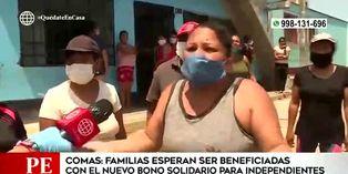 Coronavirus en Perú: familias esperan beneficiarse con el nuevo bono solidario para independientes