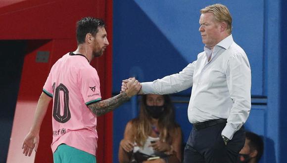 Ronald Koeman habló sobre el futuro de Lionel Messi en Barcelona. (Foto: Reuters)