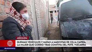 Arequipa: Celia Capira sufrió atentado contra sus mascotas y vehículos