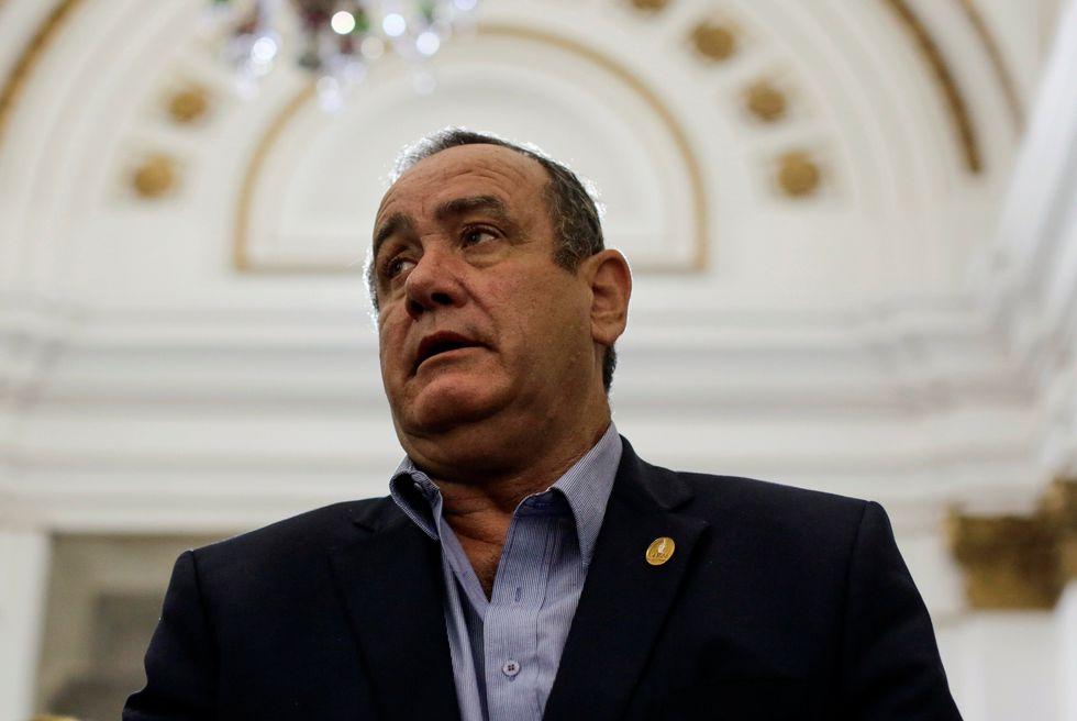 Alejandro Giammattei. (Reuters).