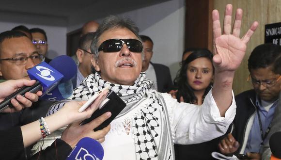Ex líder de las FARC Jesús Santrich toma posesión como congresista en Colombia. (AP).