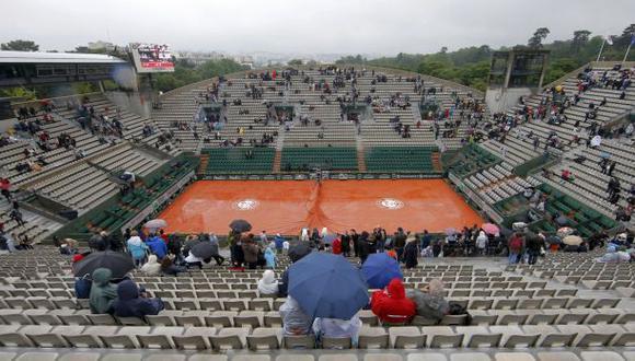 Roland Garros: se suspendió jornada de hoy por intensa lluvia