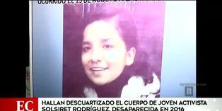 Caso Solsiret Rodríguez: hallan los restos de la joven activista desaparecida hace cuatro años