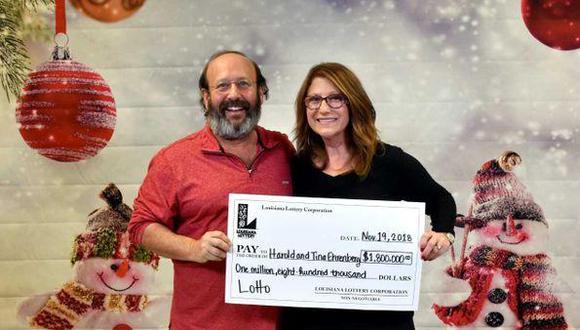 Encuentran boleto ganador de 1,8 millones de dólares al limpiar por Acción de Gracias. Foto: Lotería de Louisiana.