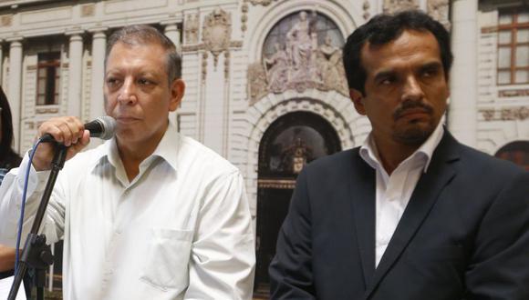 Los excongresistas Marco Arana y Humberto Morales hoy están enfrentados en el Frente Amplio (Foto: Mario Zapata / Grupo El Comercio)