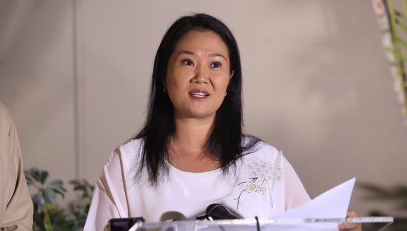 Keiko Fujimori cuestionó que el fiscal José Domingo Pérez haya solicitado la suspensión temporal de las actividades de Fuerza Popular. (Foto: GEC)