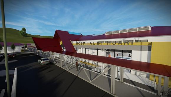 El hospital de Huari se construirá en un área de 10.963,28 m2 y tendrá una planta de generación de oxígeno. (Foto: Pronis)