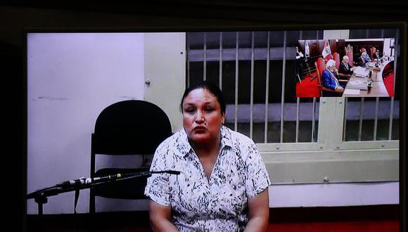 Abencia Meza participó de la audiencia en la que se evaluó su recurso de nulidad. Corte Suprema dejó al voto su decisión. (Hugo Curotto/GEC)