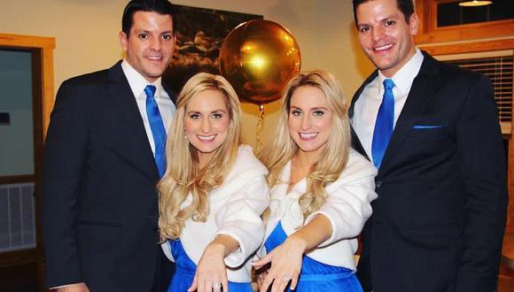 Dos de los matrimonios más extraños del mundo se vivió en Ohio, Estados Unidos. Briana se casó con Jeremy y Josh con Brittany. La historia es viral en Facebook. (Foto: Facebook)